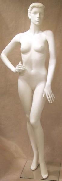 Femme cheveux sculptés blanc FSB34