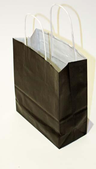 Sac papier kraft noir SPAPF1821N