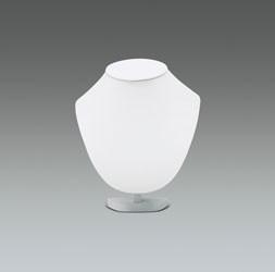 Présentoir collier blanc imitation cuir