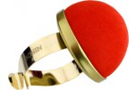 Pelote tissu bracelet doré